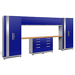 NewAge Products Inc. Performance 2.0 10-Piece Storage Cabinet Set in Blue