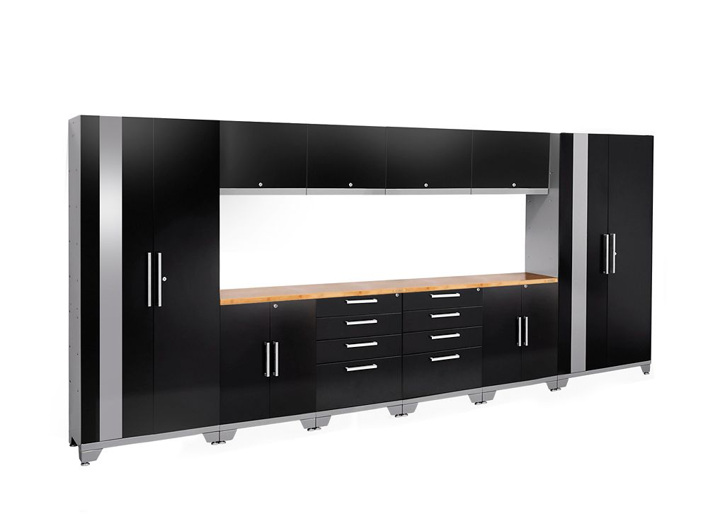 NewAge Products Performance 2.0 Series 12-Piece Garage Cabinet Set in Black