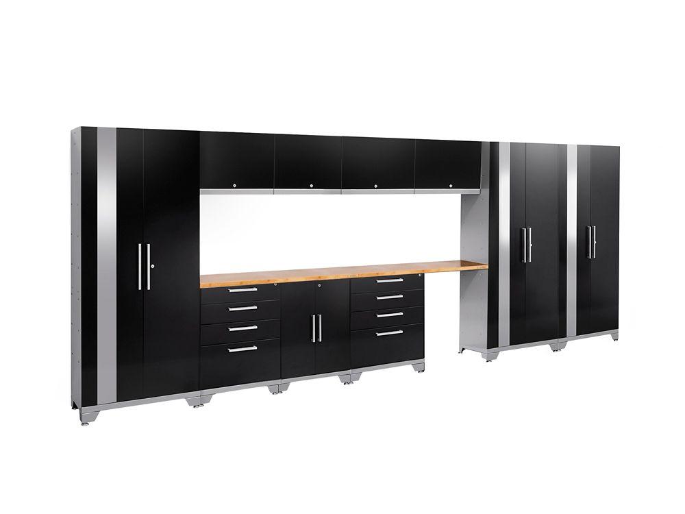 Performance 2.0 Storage Cabinets in Black (12-Piece Set)