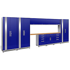 Performance 2.0 Storage Cabinets in Blue (12-Piece Set)