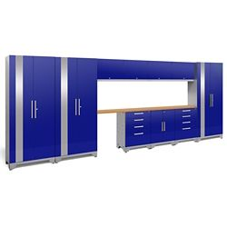 NewAge Products Inc. Performance 2.0 Storage Cabinets in Blue (12-Piece Set)
