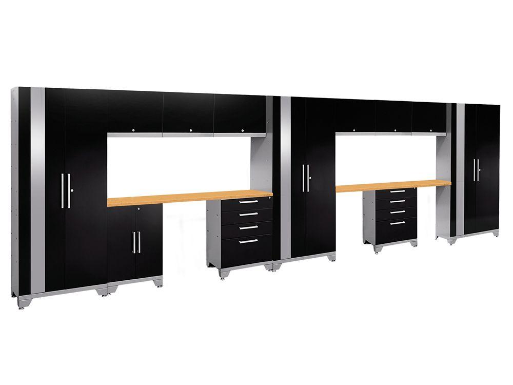 Performance 2.0 Series Modular Garage Cabinet Set in Black (14-Piece)