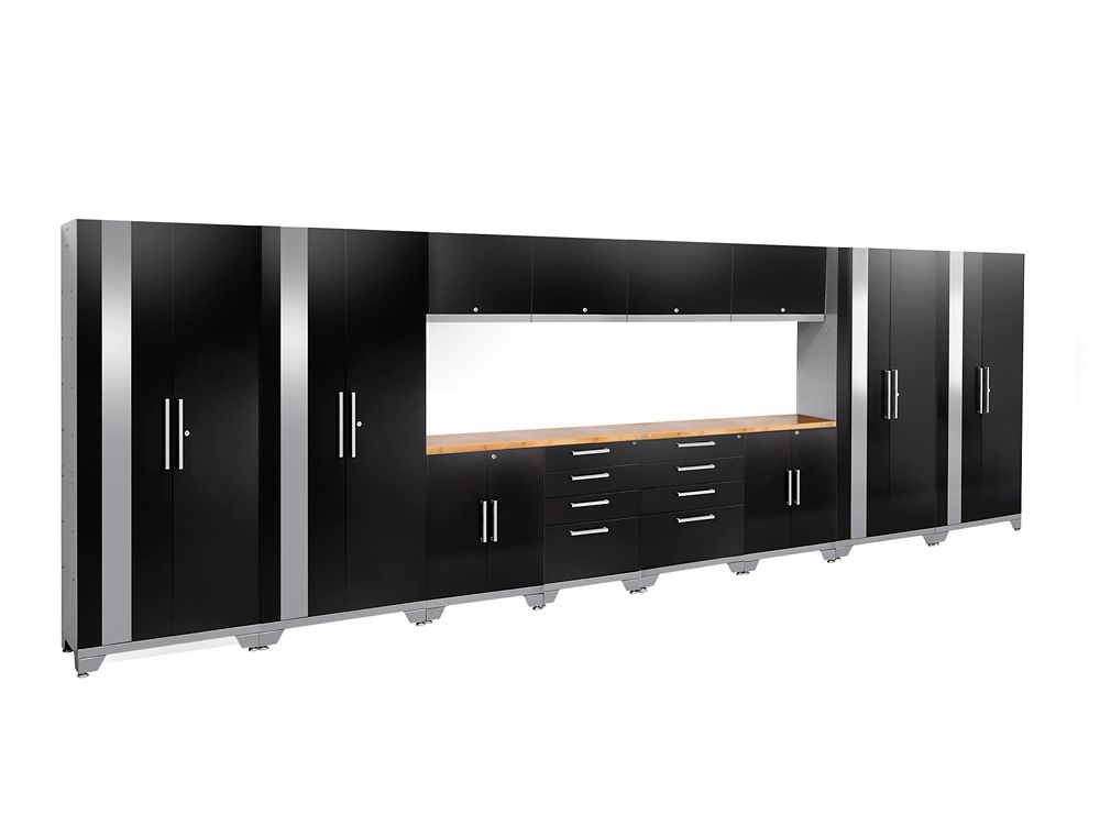 NewAge Products Performance 2.0 Series 14-Piece Garage Cabinet Set in Black