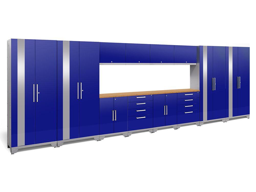 NewAge Products Performance 2.0 Blue Garage Cabinet Set (14-Piece)