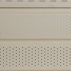 10-inch x 12 ft. Vinyl Double 5 Woodgrain Vented Soffit in Prairie Wheat Yellow