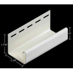 Abtco 1 1/4 Inch J - Channel White (40/BOX)