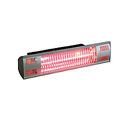 EnerG+ Wall Mounted Infrared Electric Outdoor Heater with Gold Tube