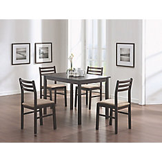 Dining Set - 5-Pieces Set / Cappuccino Veneer
