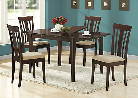 Monarch Specialties Dining Table 36 Inch X 48 60 Cuccino With A Leaf The Home Depot Canada