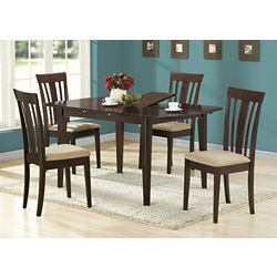 Monarch Specialties Dining Table - 36 Inch X 48 Inch  X 60 Inch  /  Cappuccino With A Leaf