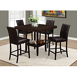 Monarch Specialties Dining Table - 42 Inch X 42 Inch  / Cappuccino Counter Height