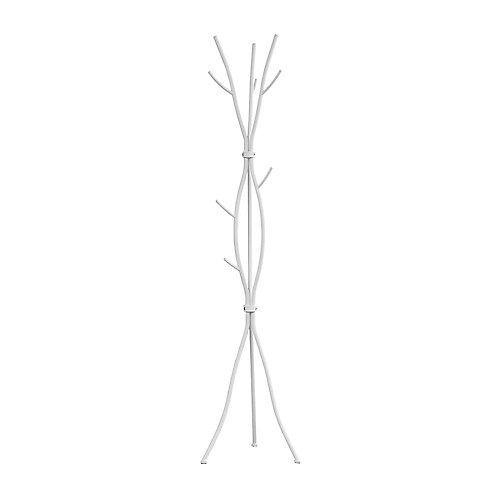 Coat Rack - 74 Inch H / White Metal