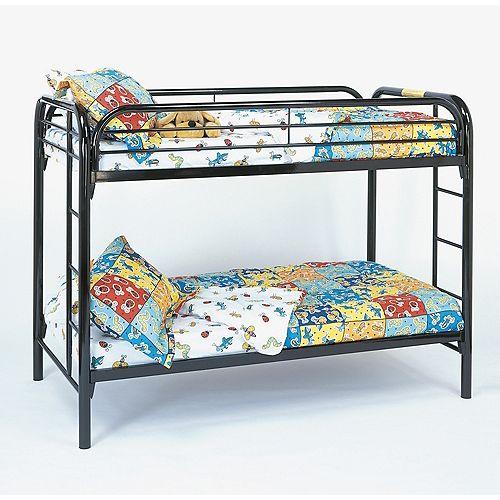 Monarch Specialties Bunk Bed - Twin / Twin Size / Black Metal