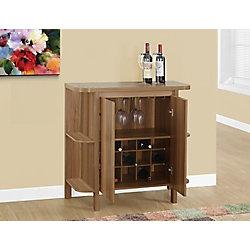 Monarch Specialties Bar Maison - 36 po H / Noyer avec Rangement