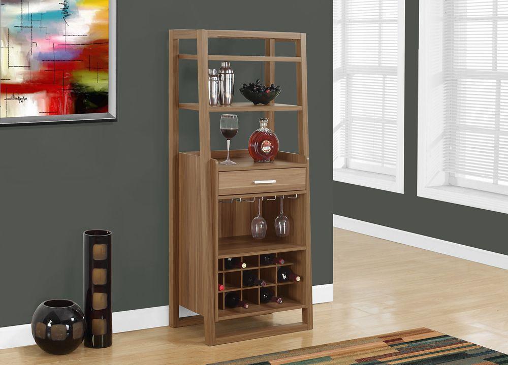 Home Bar - 60 Inch H / Walnut Ladder Style