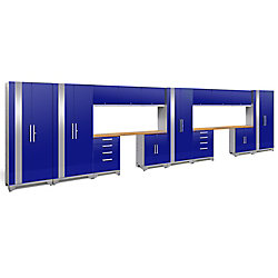 NewAge Products Inc. Performance 2.0 Series 14-Piece Garage Cabinet Set in Blue