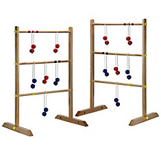 Solid Wood Ladder Toss Game Set