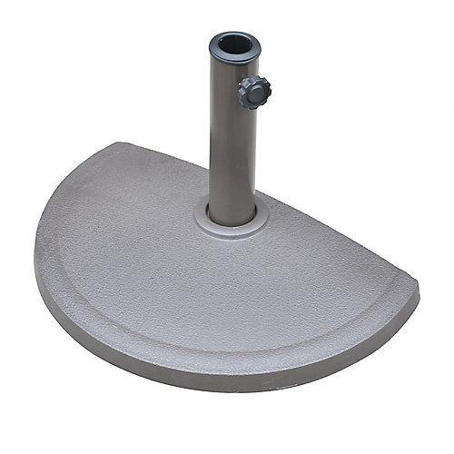 Base de parasol semi-circulaire en résine