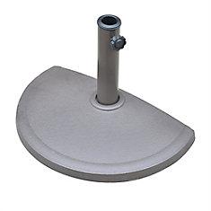 20 lb. Resin Half Round Umbrella Base