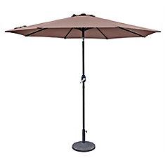 Trinidad 9 ft. Octagonal Market Umbrella in Coffee Polyester