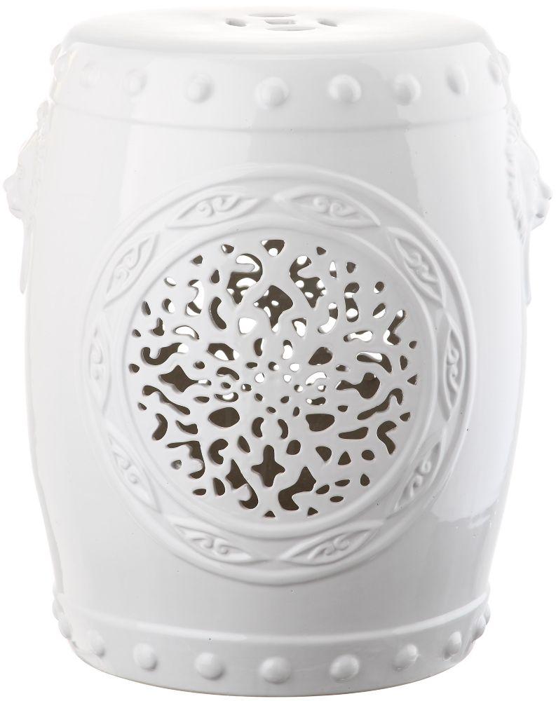 Safavieh Flower Drum Garden Stool in White