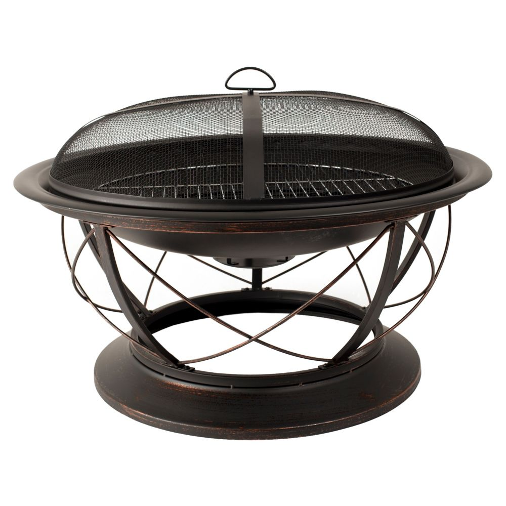 Palmetto Fire Pit with Cooking Grid