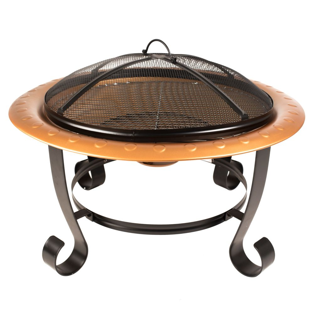 Pleasant Hearth Brentwood Outdoor Fire Pit with Cooking Grid