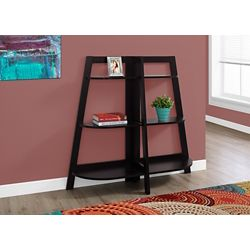 Monarch Specialties 6-Shelf Manufactured Wood Bookcase in Brown