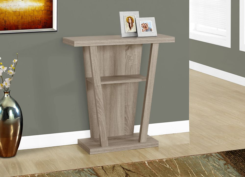 Monarch Specialties Accent Table - 32 Inch L / Dark Taupe Hall Console