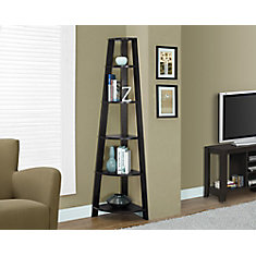 5-Shelf Manufactured Wood Bookcase in Brown