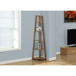 Monarch Specialties 5-Shelf Manufactured Wood Bookcase in Walnut