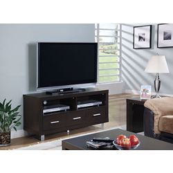 Monarch Specialties Tv Stand - 48 Inch L / Cappuccino With 3 Drawers