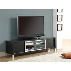 Monarch Specialties Tv Stand - 70 Inch L / Cappuccino Euro Style