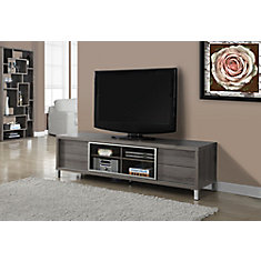 Monarch Specialties Tv Stand 70 Inch L Dark Taupe Euro Style