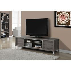 Monarch Specialties Tv Stand - 70 Inch L / Dark Taupe Euro Style