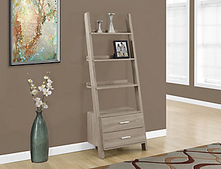 Monarch Specialties 4 Shelf Manufactured Wood Ladder Bookcase In Beige