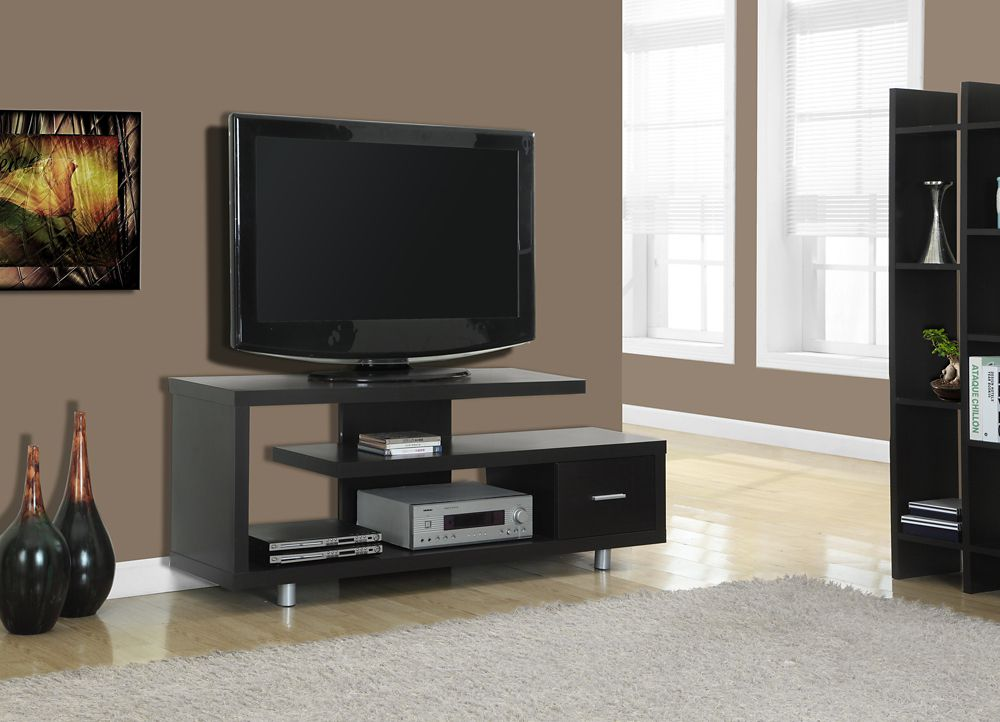 Monarch Specialties Tv Stand - 60 Inch L / Cappuccino With 1 Drawer