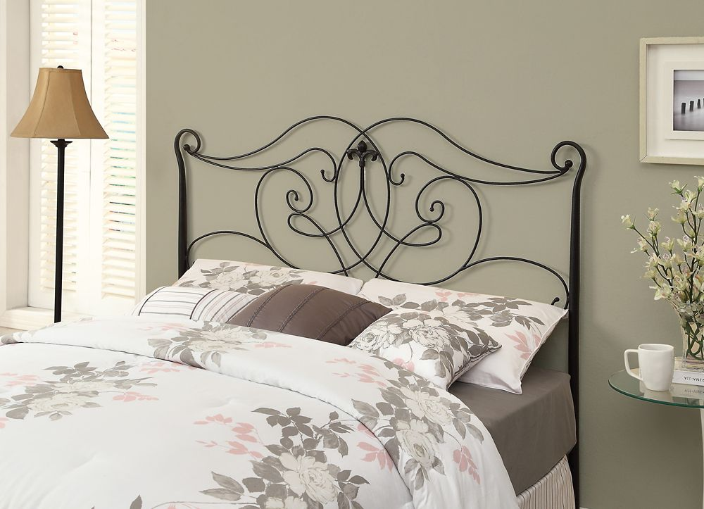 Monarch Specialties Bed - Queen Or Full Size / Satin Black Head Or Footboard