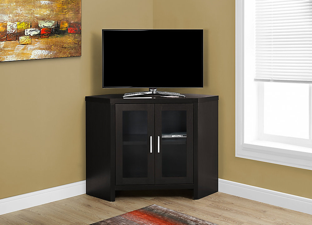 Monarch Specialties Tv Stand 42 Inch L Cappuccino Corner With
