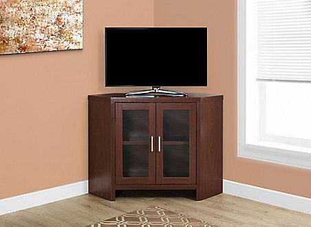 Monarch Specialties Tv Stand 42 Inch L Warm Cherry Corner With