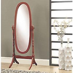 Monarch Specialties Miroir - 59 po H / Ovale Sur Pied Acajou