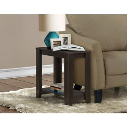 Monarch Specialties 24-inch x 12-inch x 22-inch Accent Table in Cappuccino