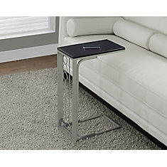 Accent Table - Cappuccino Top / Champagne Metal