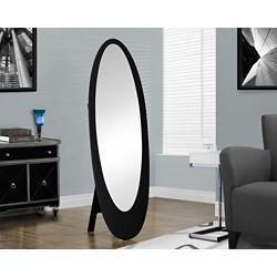 Monarch Specialties Miroir - 59 po H / Noir / Oval Contemporain Sur Pied