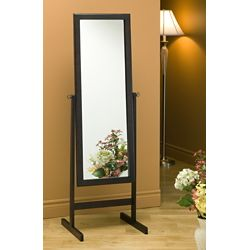 Monarch Specialties Mirror - 60 Inch H / Cappuccino Wood Frame
