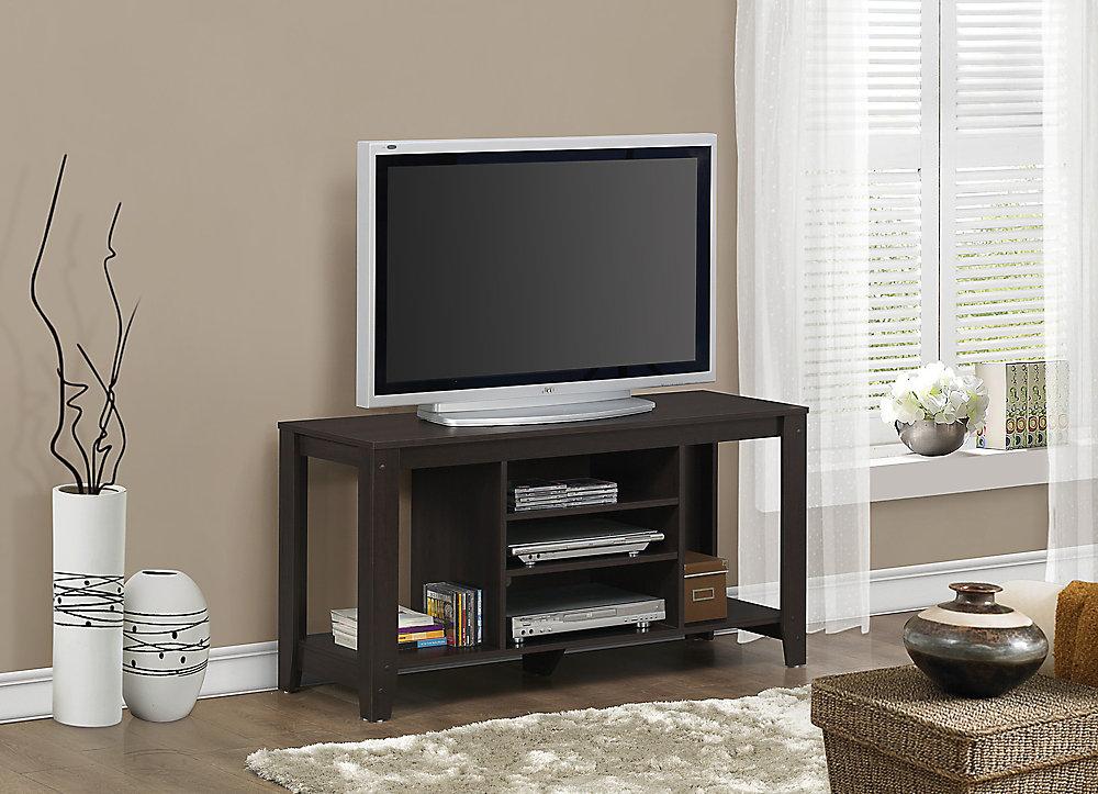 Monarch Specialties Meuble TV - 48 po L / Cappuccino   Home Depot Canada