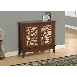 Monarch Specialties Accent Chest - Dark Walnut / Mirror Traditional Style