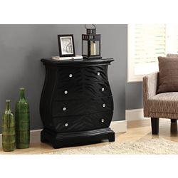 Monarch Specialties Accent Chest - Black Tiger Veneer Contemporary Style