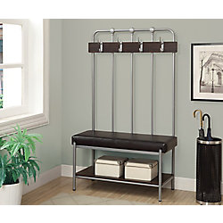 Monarch Specialties Bench - 60 Inch H / Silver Metal Hall Entry