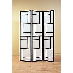 Monarch Specialties Folding Screen - 3 Panel / Black Frame